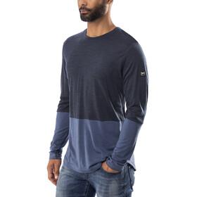 super.natural Comfort Contrast LS Men Navy Blazer Melange/Dark Avio